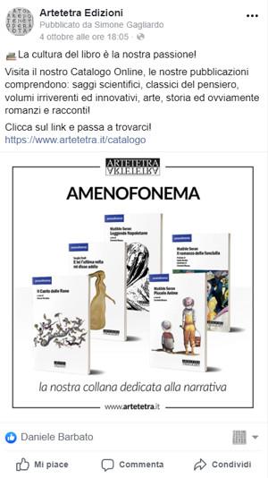 AerisLabs Gestione Social Media per Artetetra Edzioni