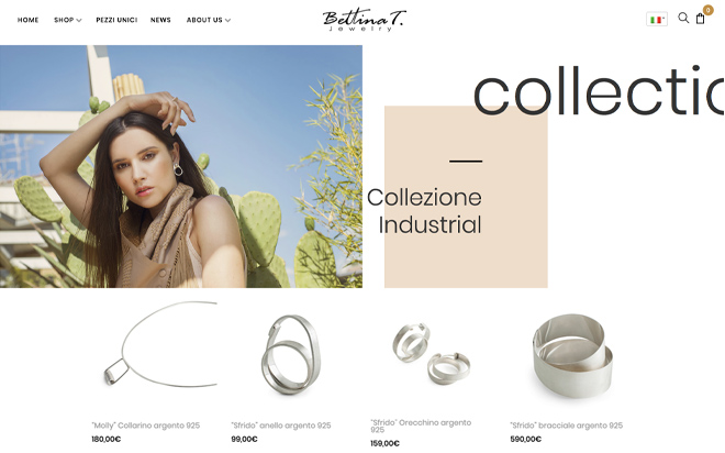 AerisLabs Design Sito per Bettina T Jewelry