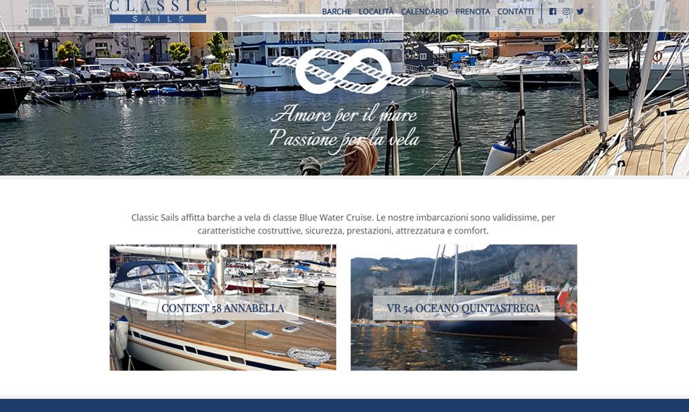AerisLabs Design Sito per Classic Sails