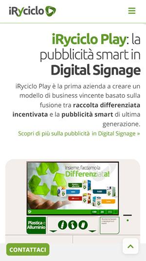 AerisLabs Design Sito Responsive per iRyciclo Play