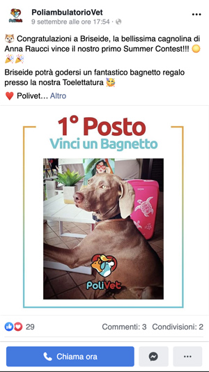 AerisLabs Gestione Social Media per Polivet - Poliambulatorio Veterinario