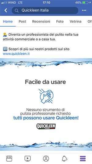 Aerislabs Gestione Social Media per Quickleen Italia